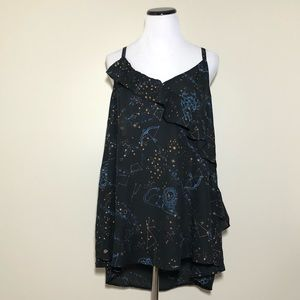 Torrid Astrology Constellation Ruffle Tank Size 3
